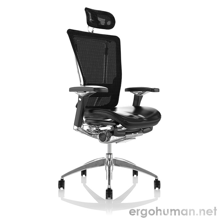 Nefil Leather Seat Mesh Back Office Chair